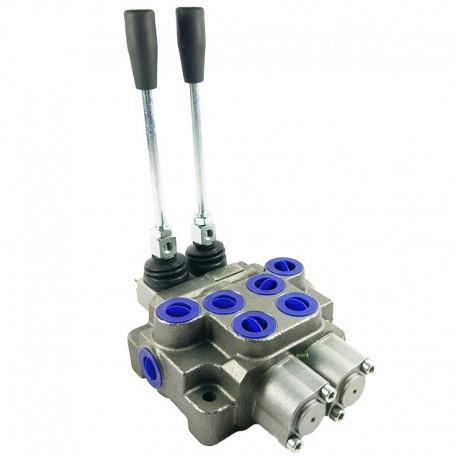 Distributore idraulico ML 3/8' doppio e semplice effetto a 2 leve