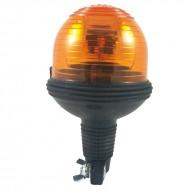 Lampeggiante per trattore asta flessibile arancio 12 V girofaro