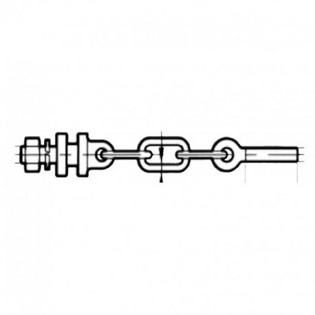 Mezza catena imbrigliamento per Landini FIL. 20 X 2,5 SX 1 MAGLIA
