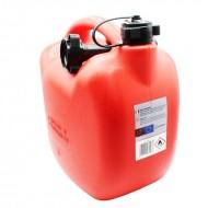 Tanica benzina 10 litri in plastica con beccuccio travasatore