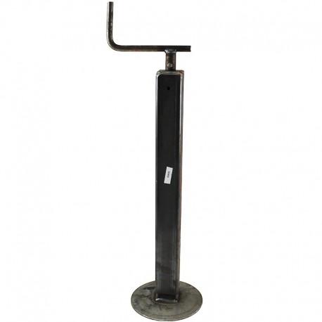 Servotimone telescopico piede appoggio per rimorchi agricoli D. 50 mm corsa 260 x 390