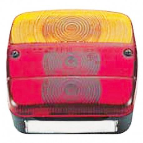 Fanale posteriore destro per trattore e rimorchio 3 luci quadrato