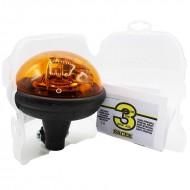 Lampeggiante trattore Ellipse asta flessibile 12/24 V - girofaro