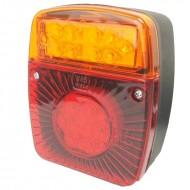 Fanale posteriore per trattore a LED 3 luci quadrato con luce targa