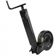 Servotimone telescopico con ruota in ferro per rimorchi D. 70 mm corsa 250 x 850