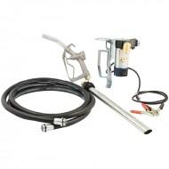 Pompa travaso gasolio autoadescante a batteria 12V per fusto