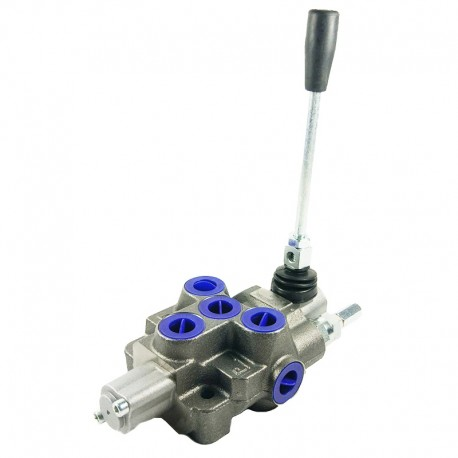 Distributore idraulico MD 3/8' semplice effetto a 1 leva + posizionatore oleodinamico