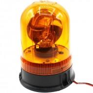 Lampeggiante base piana arancio 12 V girofaro
