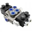 Distributore idraulico oleodinamico elettrico 3/8' doppio effetto a 2 leve - 12 V