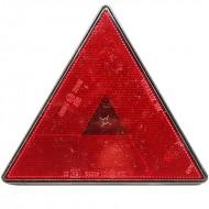 Catadiottro triangolare rosso per rimorchio con viti - 162 x 142 mm
