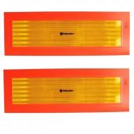 Coppia pannelli retroriflettenti per rimorchio 565 x 200 mm omologati
