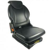 Sedile trattore pneumatico in skay + cinture sicurezza + microinterruttore h. 67,4 cm