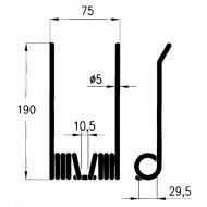 Molle per rotopressa raccoglitrice Claas cod. 821.421.1