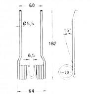 Molle per rotopressa raccoglitrice Fort - Morra tipo stretta