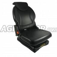 Sedile trattore meccanico in skay + cinture sicurezza + microinterruttore h. 67,4 cm
