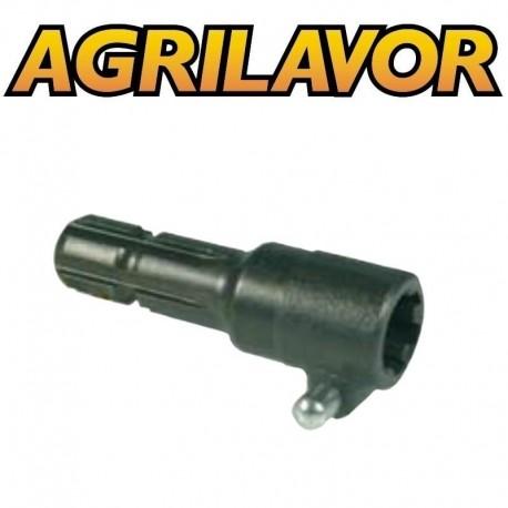 """Riduzione unificata con pulsante - acciaio speciale 1"""" 3/8 presa di forza 150 mm"""