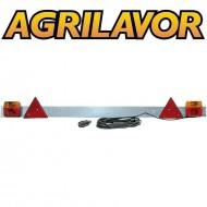 Barra luci rimorchio regolabile 140-180 cm zincata completa tipo alto