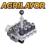 Distributore idraulico 3/8' doppio effetto a 4 leve per cimatrice