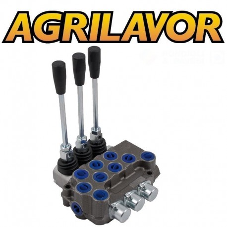 Distributore idraulico ML 3/8' doppio effetto a 3 leve