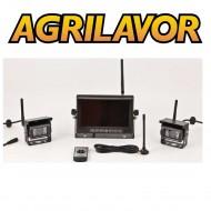 Kit videocamera trattore wireless 12-24 v con 2 telecamere - senza fili