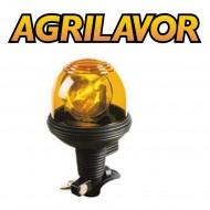 Lampeggiante per trattore asta flessibile arancio 12-24 V girofaro