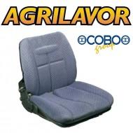 Sedile per trattore e culla in stoffa con guide