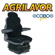 Sedile trattore meccanico in stoffa + cinture + microinterruttore h. 83,2 cm